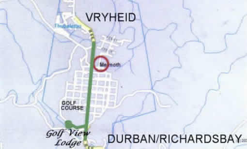 Melmoth Accommodation - Melmoth B&B Accommodation - Golf View Lodge for luxury, affordable accommodation in Melmoth - map