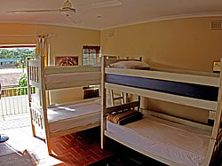 Our backpackers dormitories sleep a maximum of 6 persons per room and each room has its own bathroom.